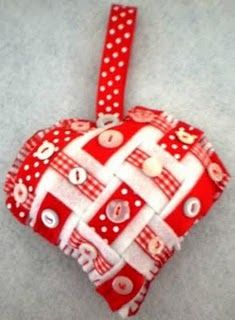 Christmas ornament or garland.  Looks complicated but easy peasy.  See the tutorial on the side bar!
