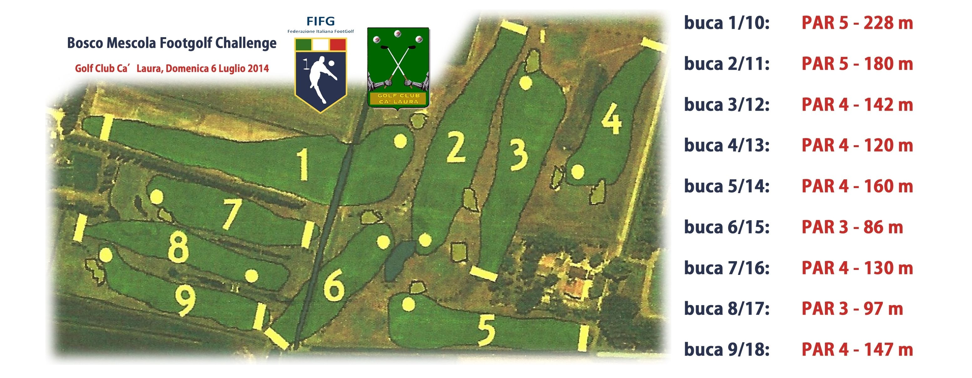 Percorso di gara #footgolf 18 buche del Golf Club Cà Laura Ferrara @Federfootgolf