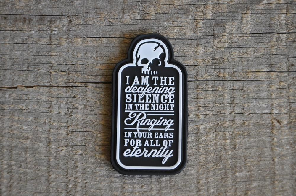 Image of Deafening Silence PVC Patch Pvc patches, Morale