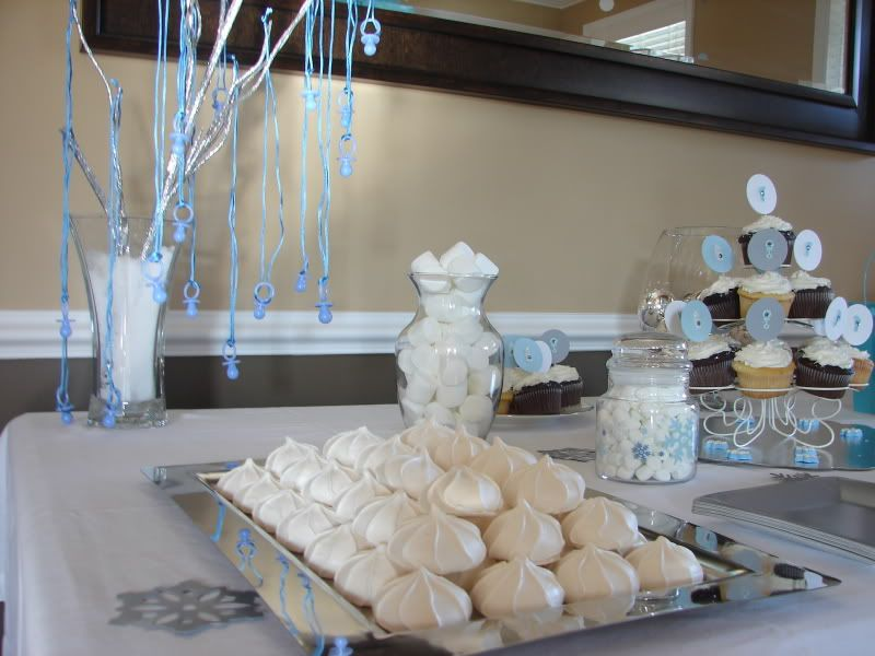 Baby Shower   Winter Theme | We Used White Marshmallows For Decoration  Before People Put Them