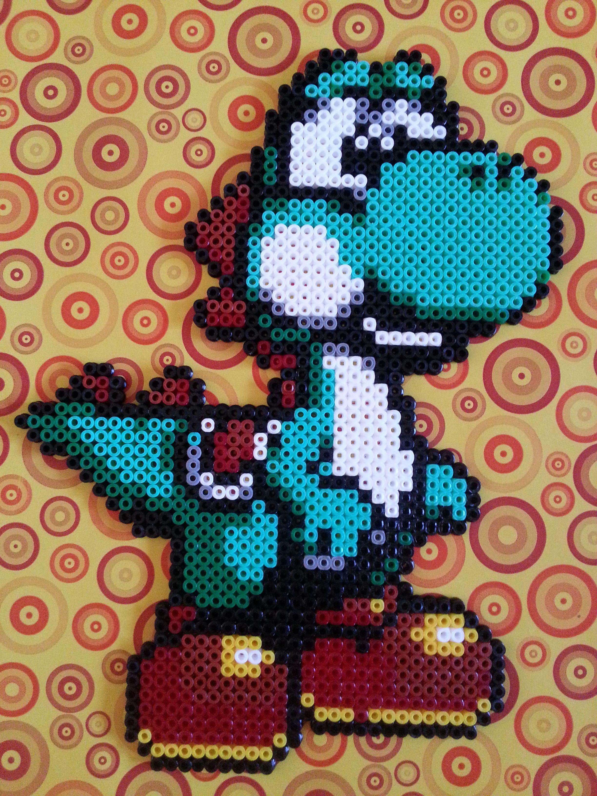 Yoshi hama perler beads by Onoka Kono | Super YOSHI island ...