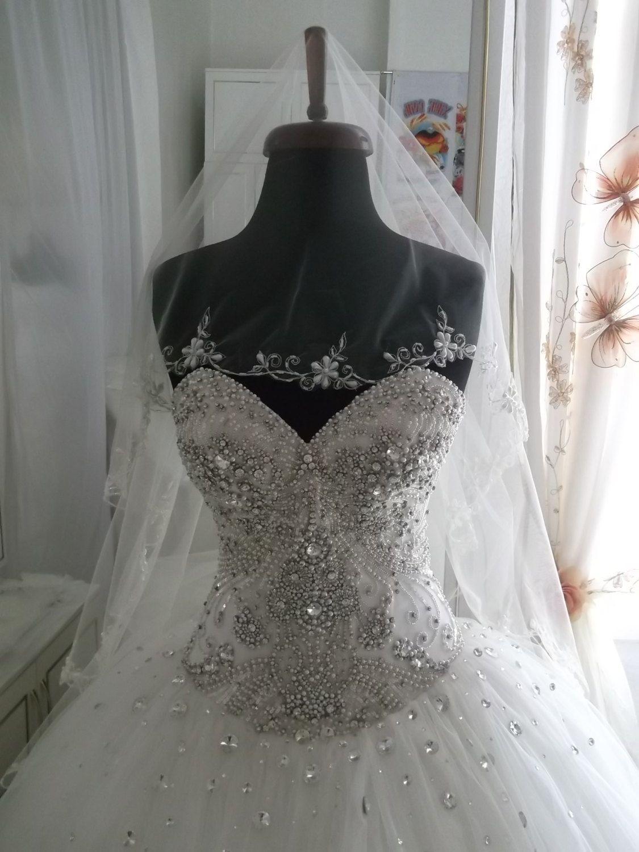 Wedding veil circle wedding veil radiance wedding veil. $75.00, via Etsy. (it has pearls!)
