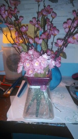 My home made vases and candle holders
