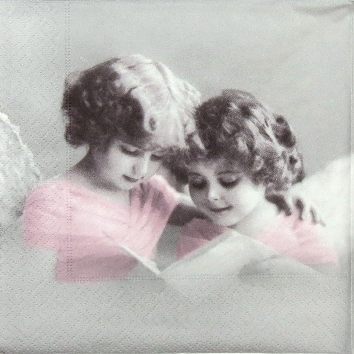 Mix 4x Paper Napkins for Decoupage Decopatch Sagen Vintage Angel