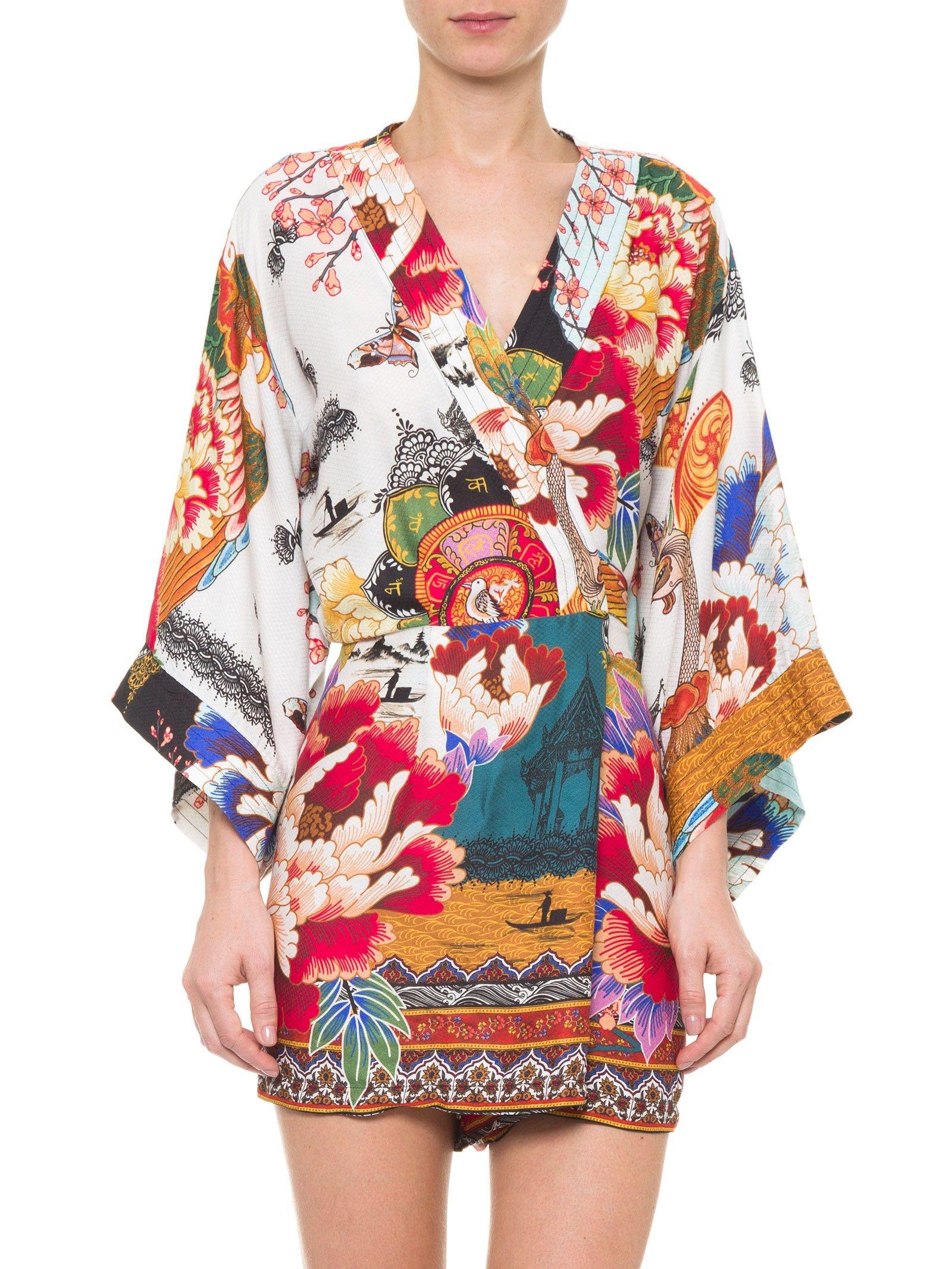 7d6ecd31fe Macaquinho Kimono Liberdade - Farm - Branco - Shop2gether