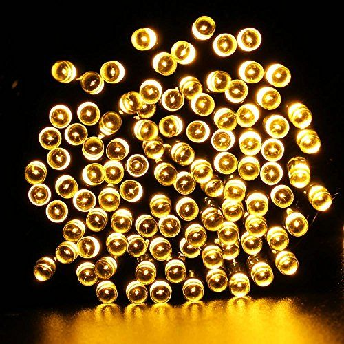 Icicle Solar Christmas Decorative String Lights, 72ft 200 Leds - solar christmas decorations