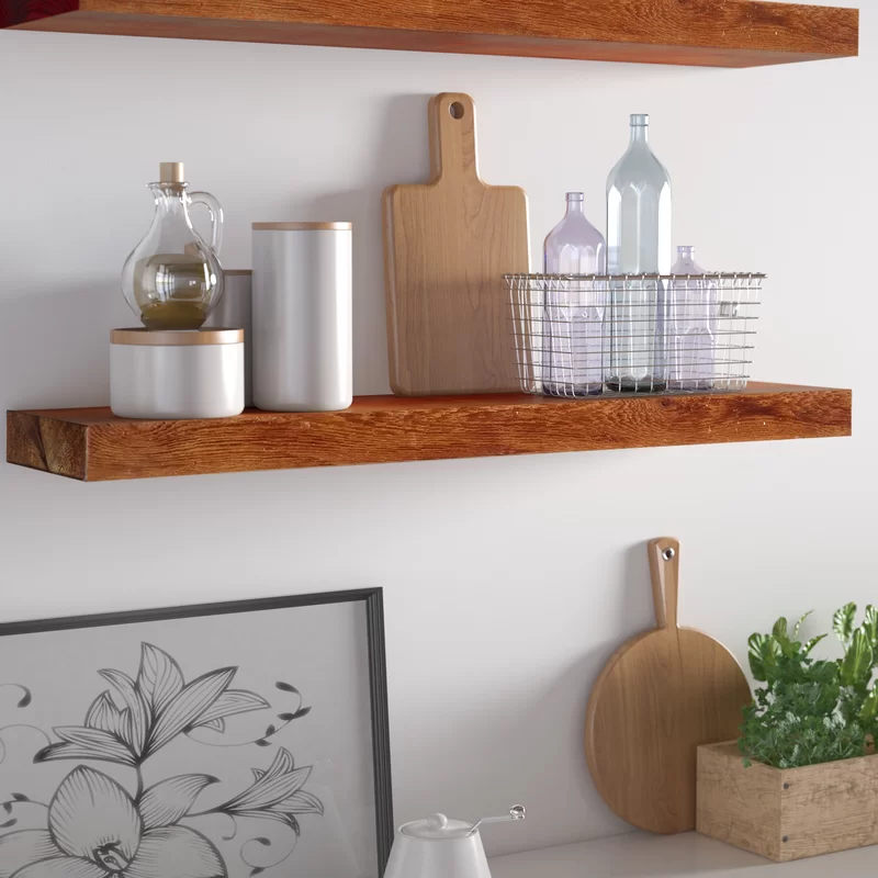 10 Genius Storage Ideas For Small Spaces: Sharri Rough Cedar True Floating Wall Shelf & Reviews