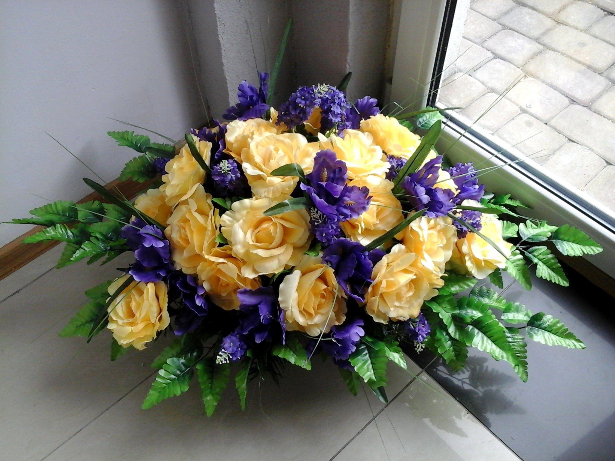 Sztuczne Kwiaty Na Grob Stroik Kompozycja Duza Floral Wreath Wreaths Floral