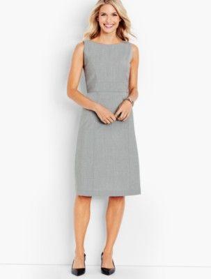 5df2333b Talbots: Seasonless Wool A Line Sheath   Products   Dresses, Talbots ...