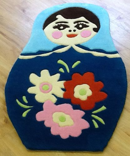 Crochet Russian Doll Matryoshka Rug