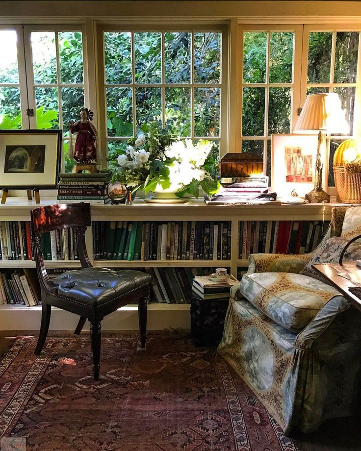 Cottage Home Library: Cozy House, Home Libraries