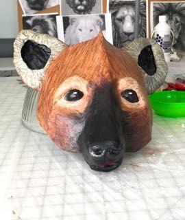 Hyena Mask, Part 2 | Ultimate Paper Mache | Lion King Jr  - CTAP