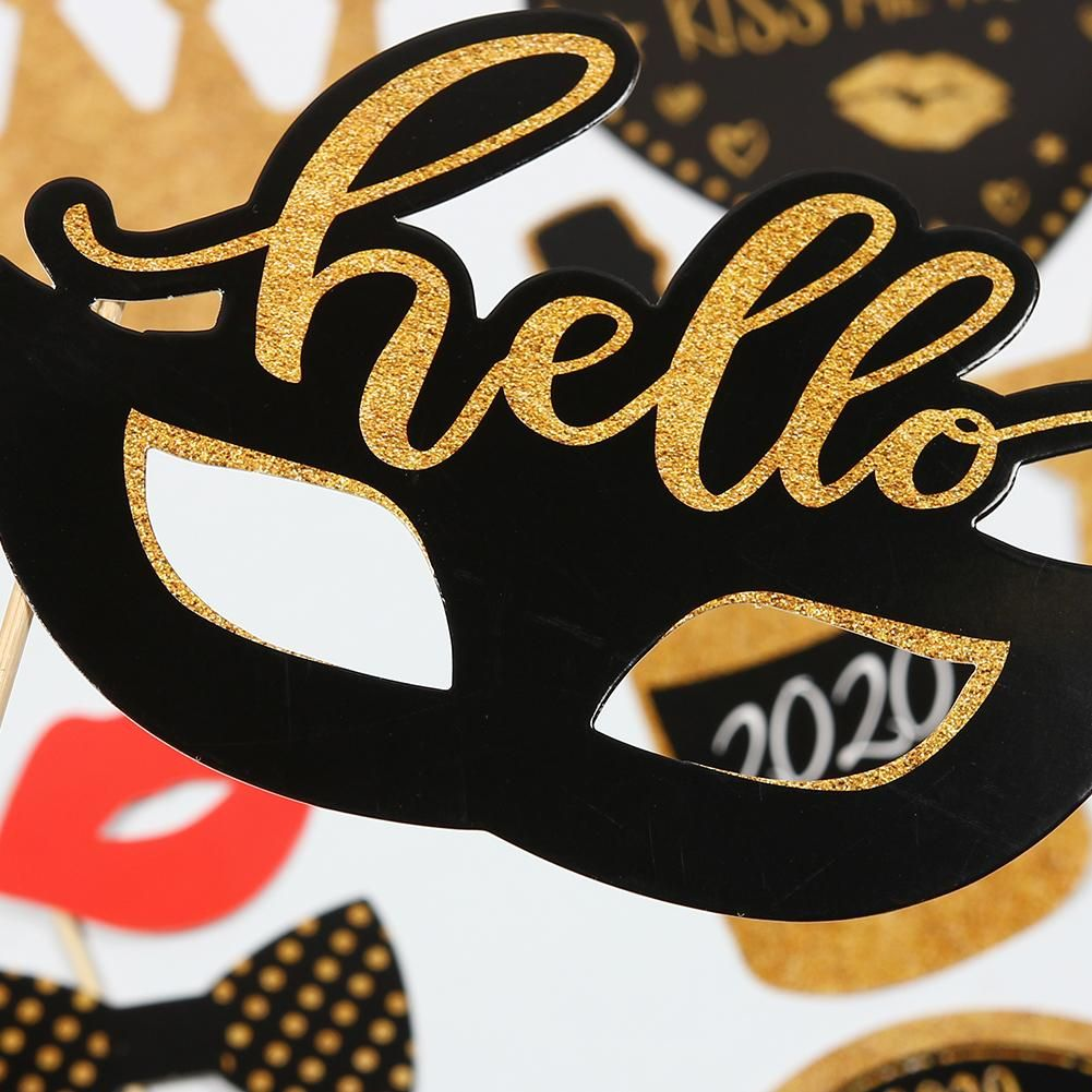 2020 New Year Eve Creative Photo Booth Selfie Props São