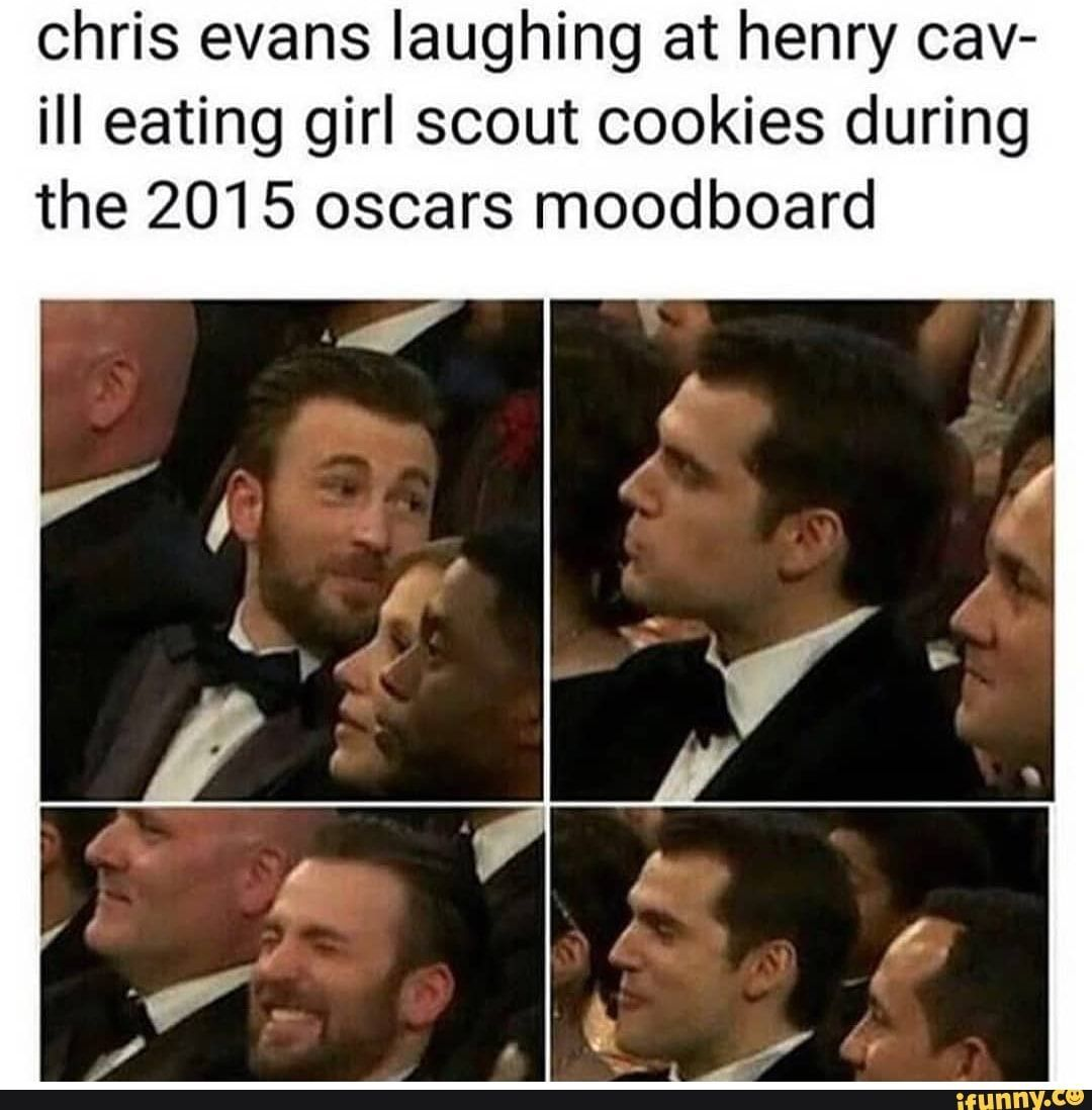 Picture memes O4uEBfab6 — iFunny #oscars Chris evans laughing at henry cav- il…