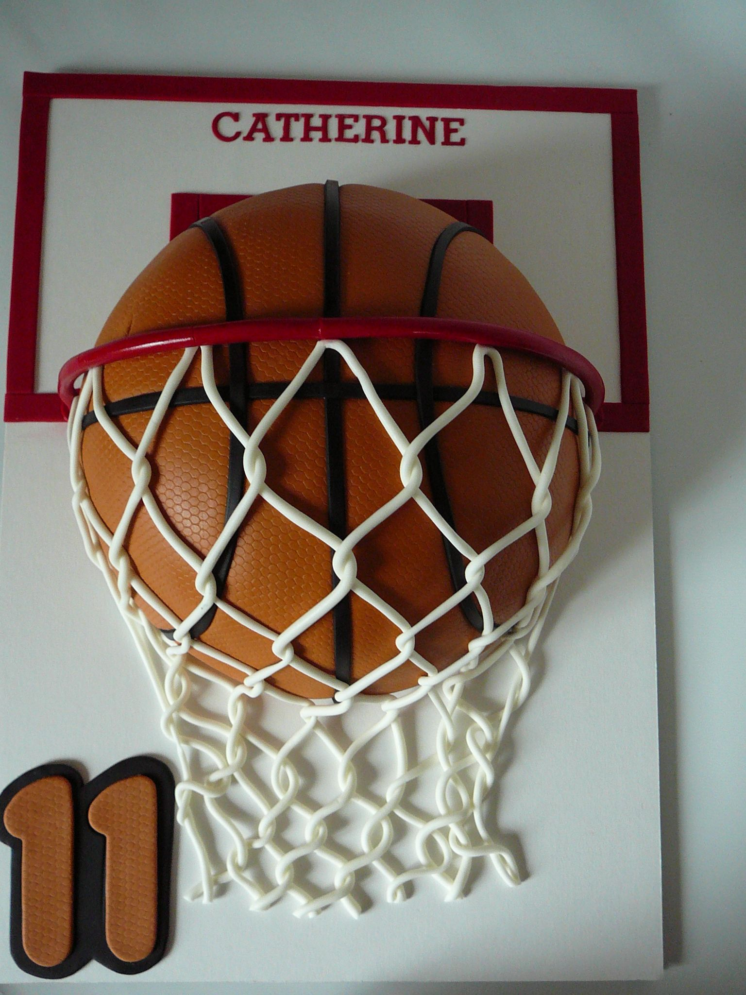Basketball for Catherine Another basketball cake this time for