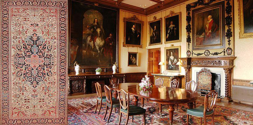 Antique Carpets Of Downton Abbey Downton Abbey Decor Highclere
