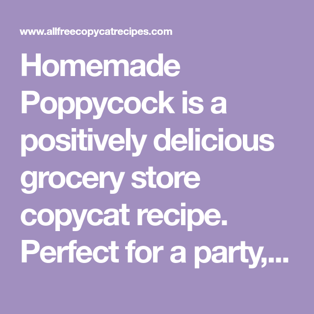 Photo of Homemade Poppycock