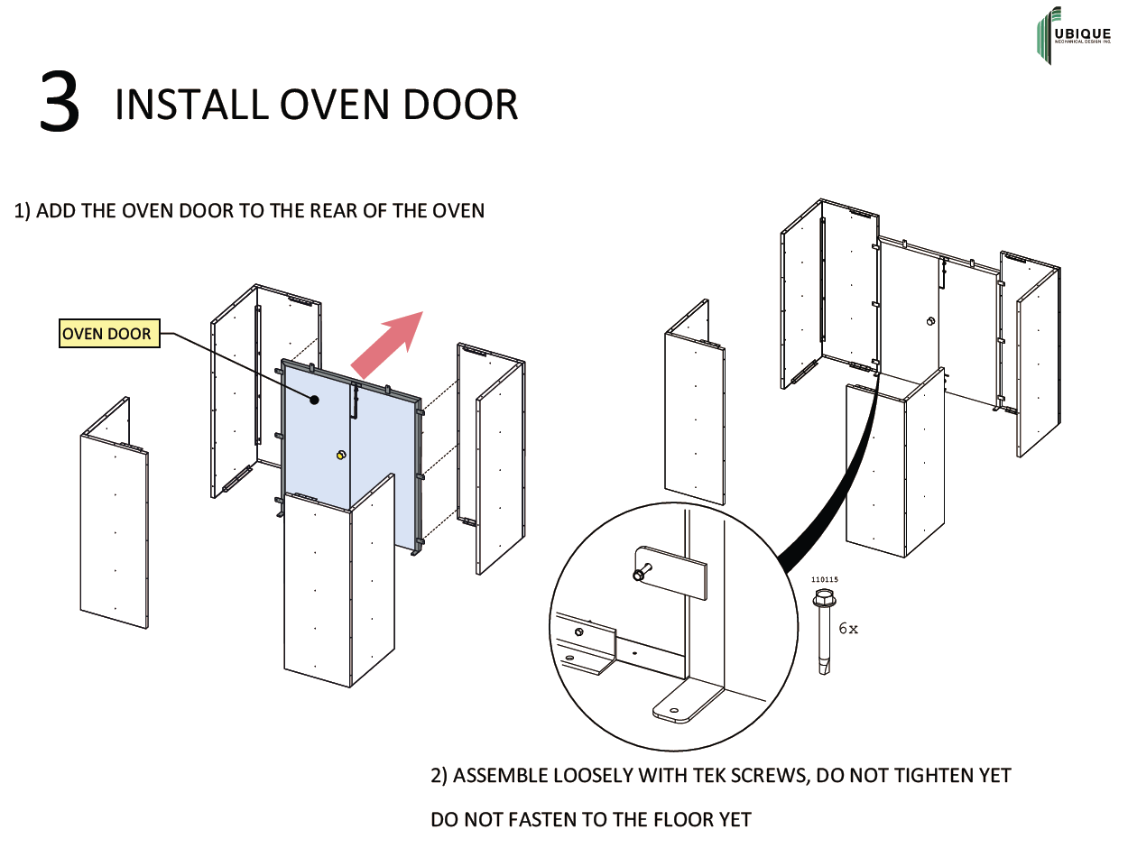 Customer assembly instructions to assemble an ore-drying