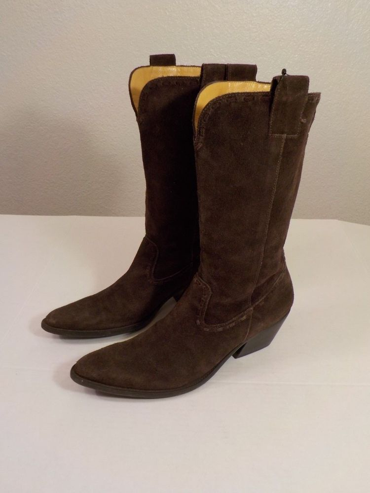 56f10be1f31 Gianni Bini Western Boots Womens 7 M Brown Suede Pointy Cowboy ...