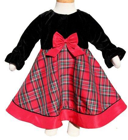 9b3d3240a3fd0 Buy Good Lad Fancy Red Plaid Christmas Dress and Jacket Set, Dressy ...