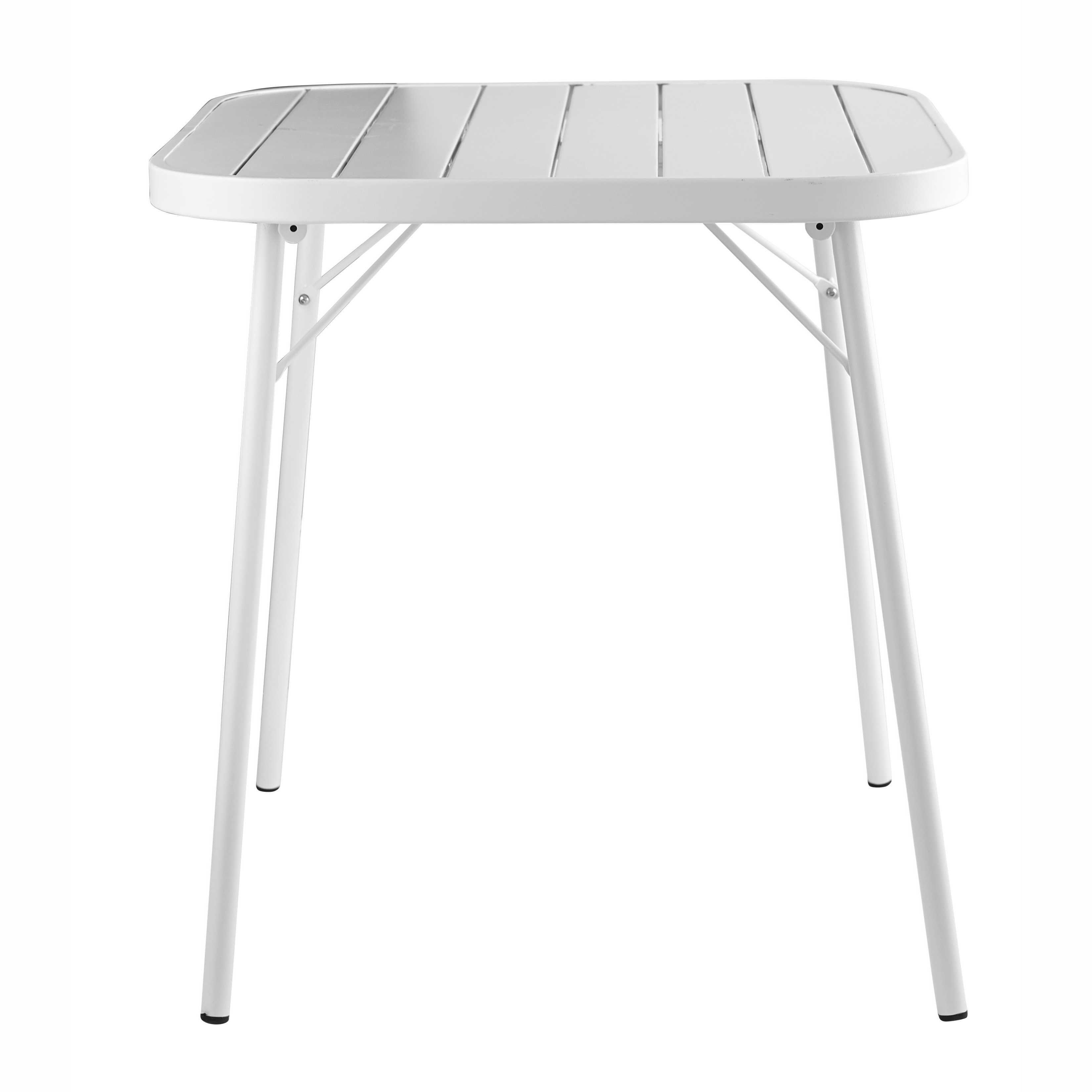 Mesa Plegable De Jard N De Metal Blanca L 70 Cm Soledad Terraza  # Muebles Soledad
