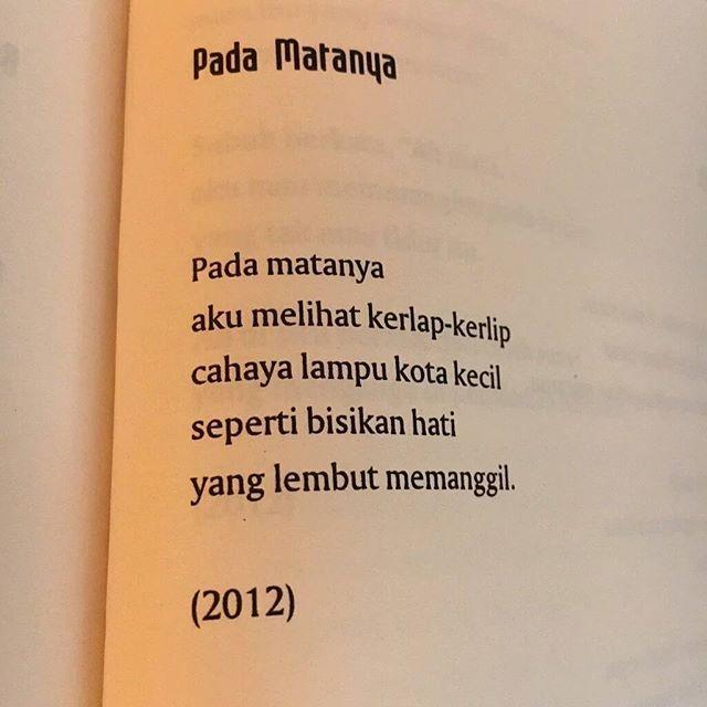 Puisi Joko Pinurbo R Pinterest