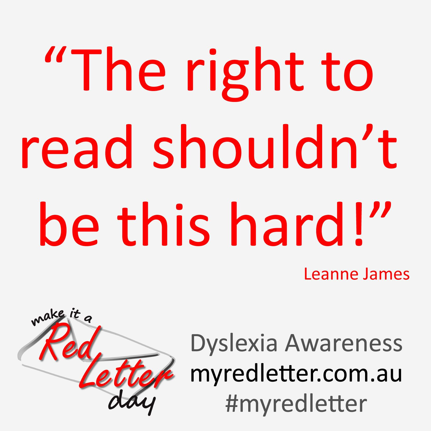 Quote Make It A Red Letter Campaign  Competition Dyslexia
