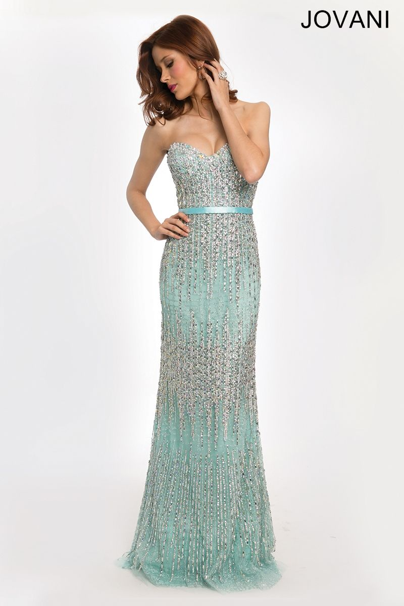 Blue fitted strapless gown cool stuff to buy pinterest