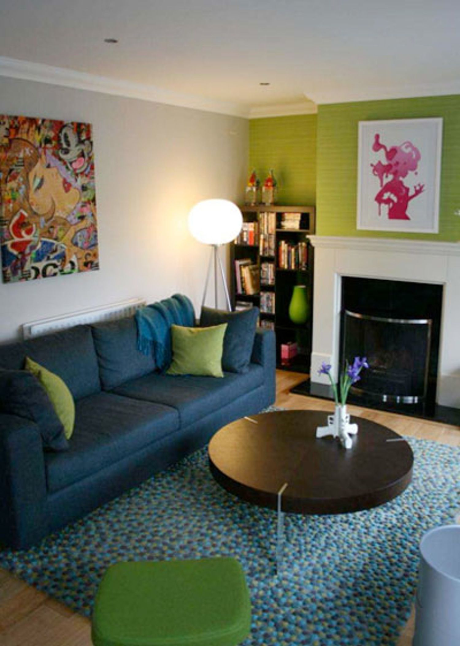 "joanne's ""lime & teal"" living room 