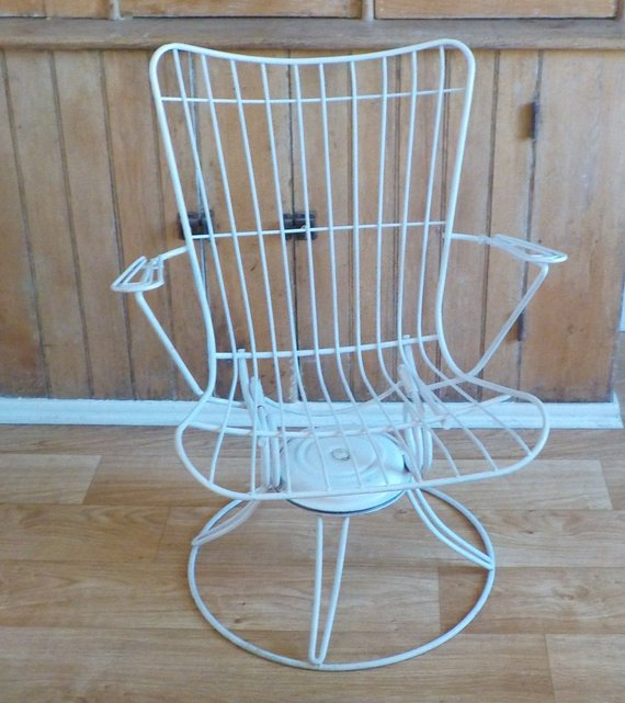 Terrific Vintage Homecrest Lawn Chair Mid Century Patio Wire Swivel Onthecornerstone Fun Painted Chair Ideas Images Onthecornerstoneorg