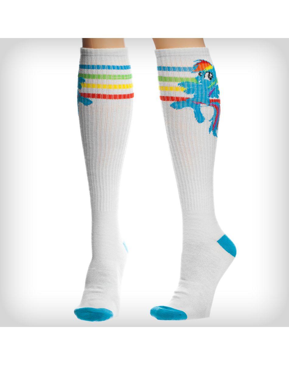 730b30e7ae6 My Little Pony Rainbow Dash Athletic Stripe Knee High Socks