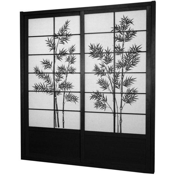 7 ft Tall Bamboo Tree Shoji Sliding Door Kit (805 CAD) ❤ liked on