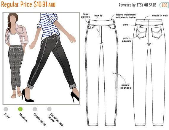 e7849ce4dc9 ON SALE Georgie Stretch Woven Jean - Sizes 16