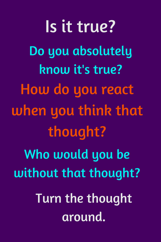 Byron Katie The Work The Four Questions Is it true Do you – Byron Katie Worksheet