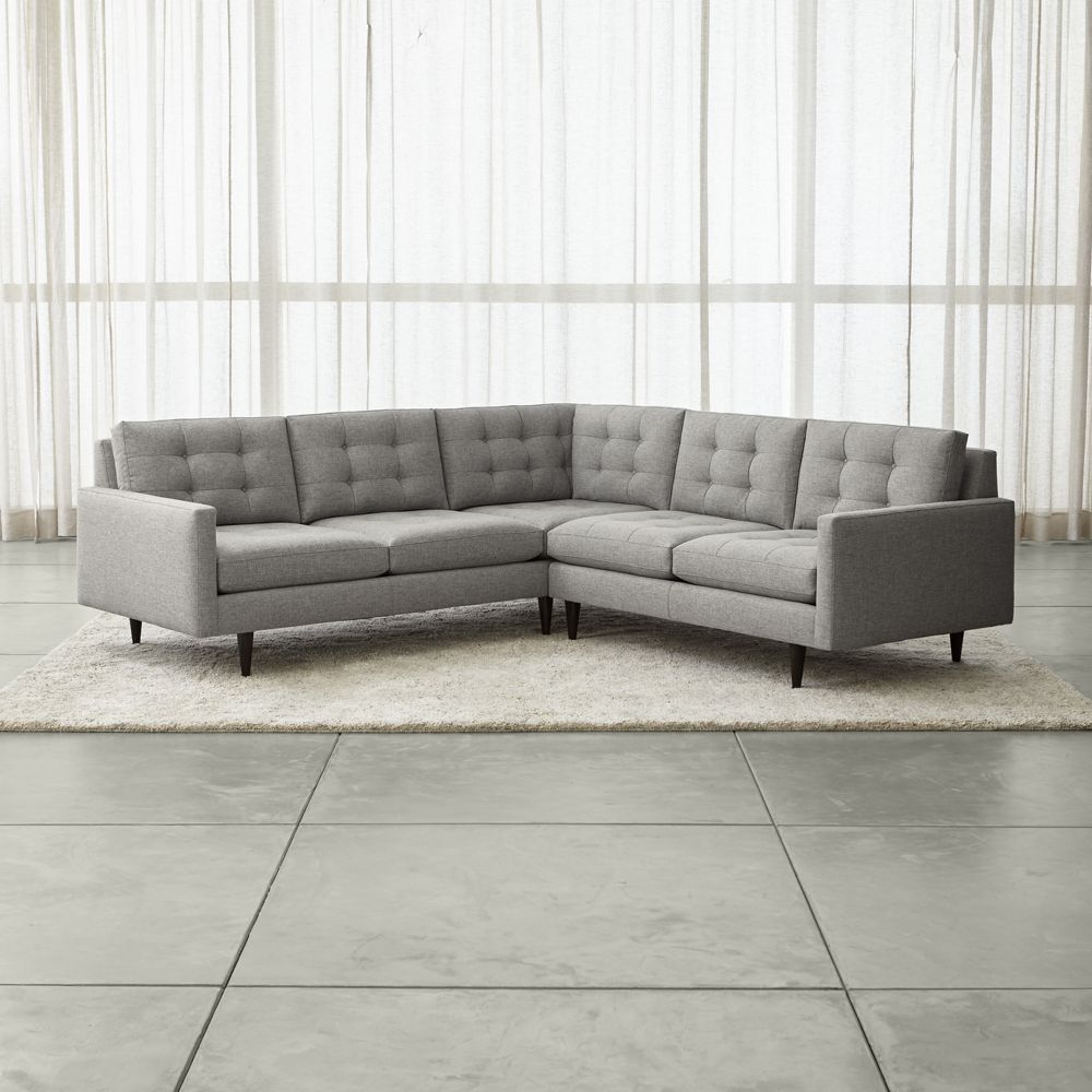 Petrie 2 piece corner sectional sofa crate and barrel
