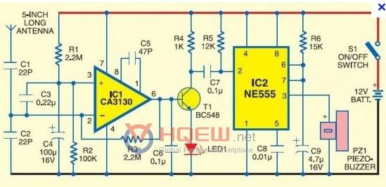 mobile phone detector circuit diagram - hqew.net | cell phone antenna,  sprint cell phone deals, circuit diagram  pinterest