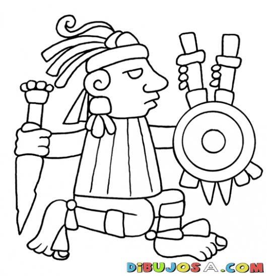21dediciembredel2012 Dibujo De Figura De Geroglifico Maya Para Pintar Y Colorear Maya De Guatemala Colorea Maya Dibujos Dibujos Prehispanicos Aztecas Dibujos