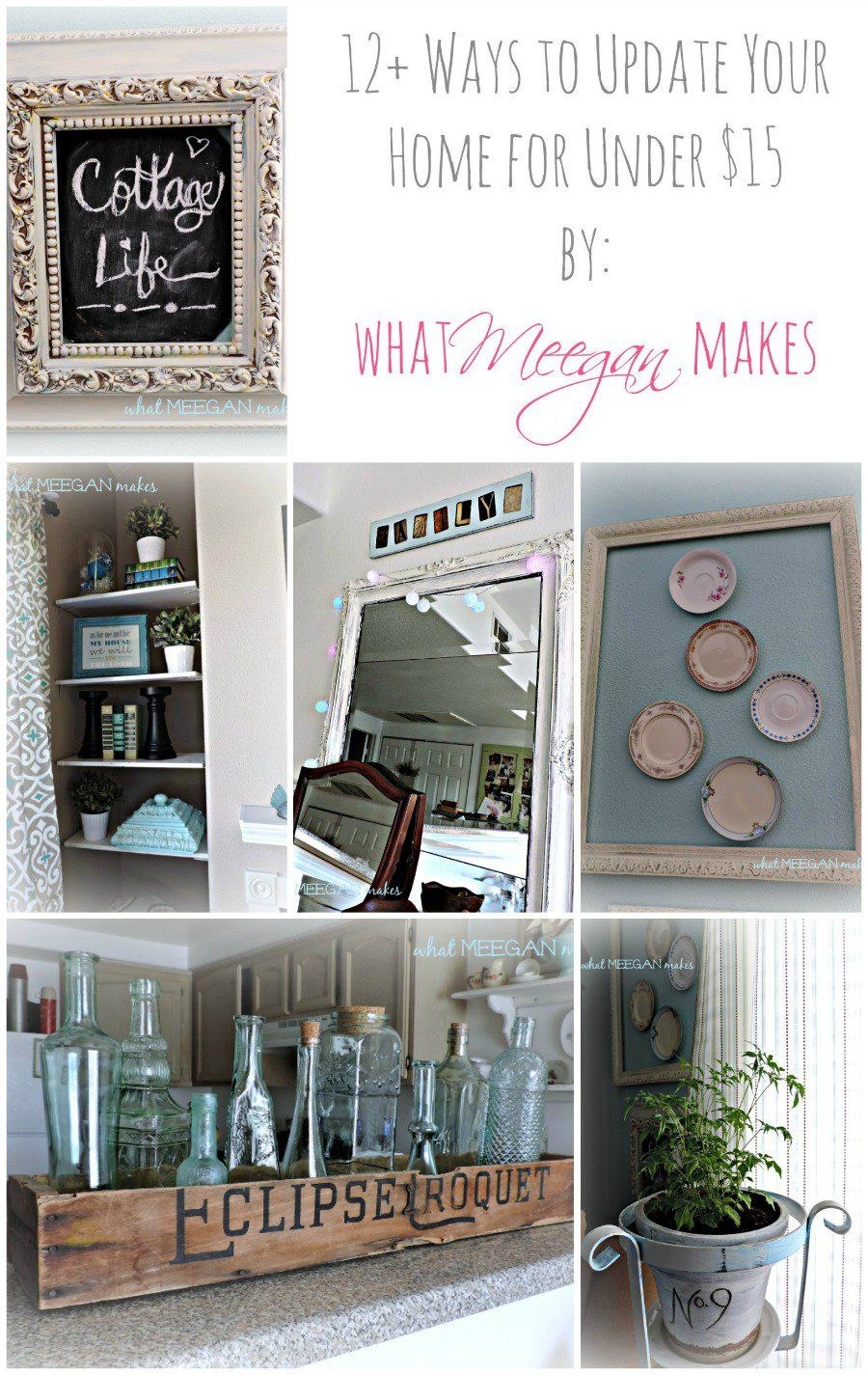 12+ Ways to Update Your Home for Under $15