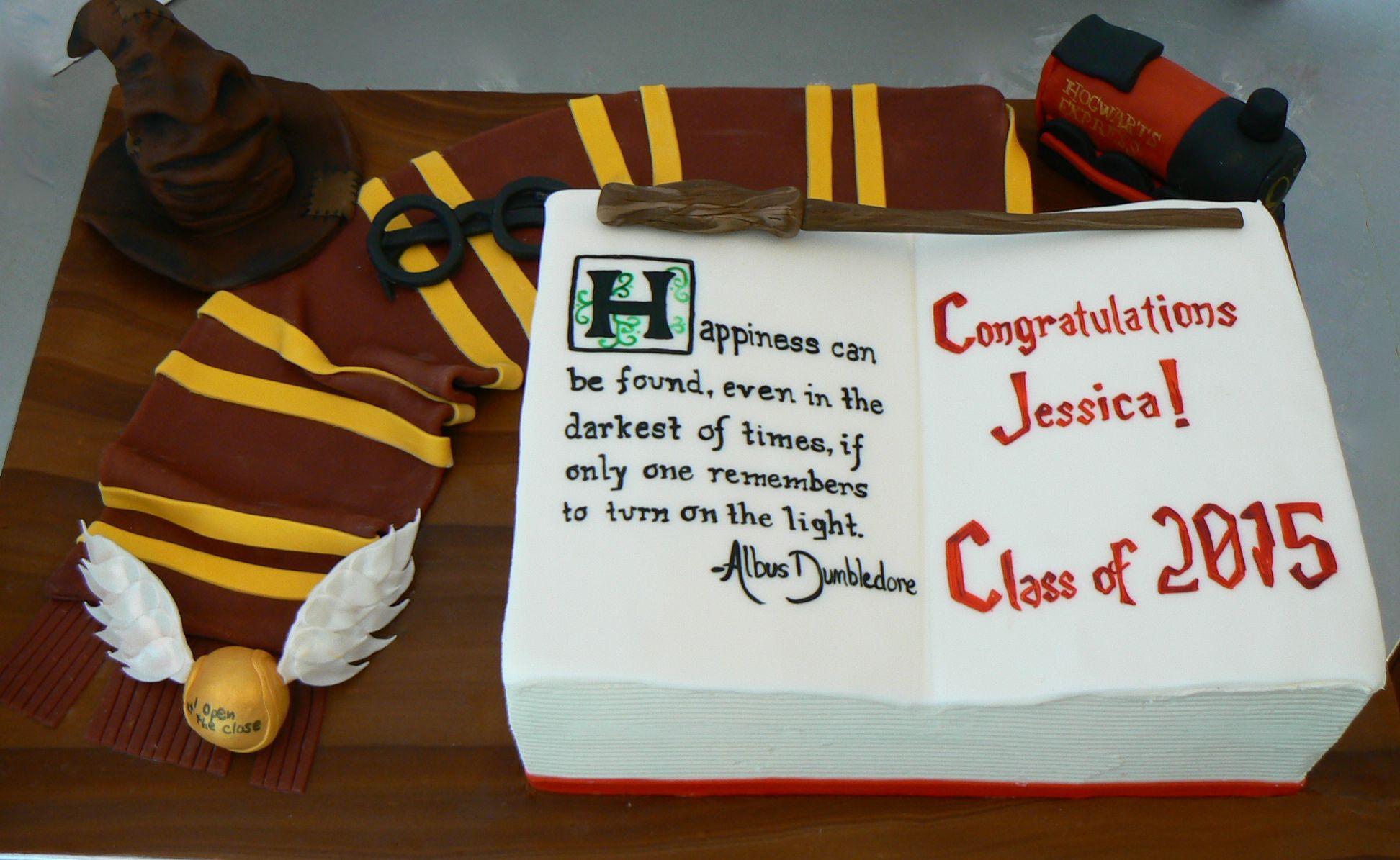 Harry Potter Graduation Cake Graduation Cakes Harry Potter Cake
