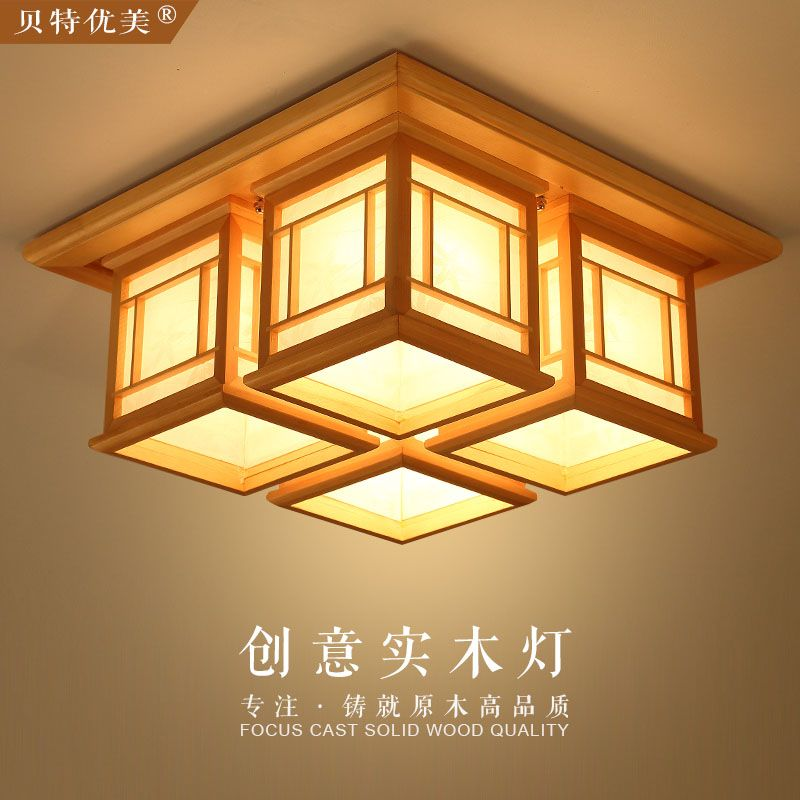 Anese Style Lamps Led Wood Ceiling And Lamp Tatami Room Entrance Single Aisle Headlights Log China Mainland