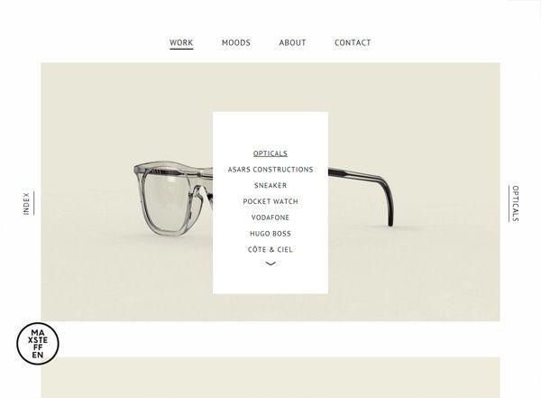 Minimalist website design inspiration max steffen http for Minimalist living websites