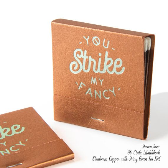 STRIKE MY FANCY Matchbooks Min of 50  by PicturePerfectPapier