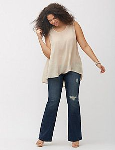 6117cb01660 Destructed bootcut jean by Melissa McCarthy Seven7 | Kelly's clothes ...