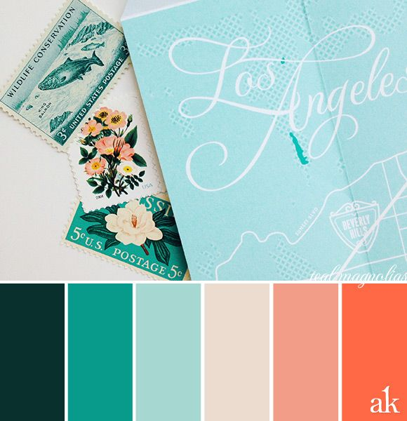 Map Inspired Hues Coral Colour Palette Teal Color Palette Color Palette