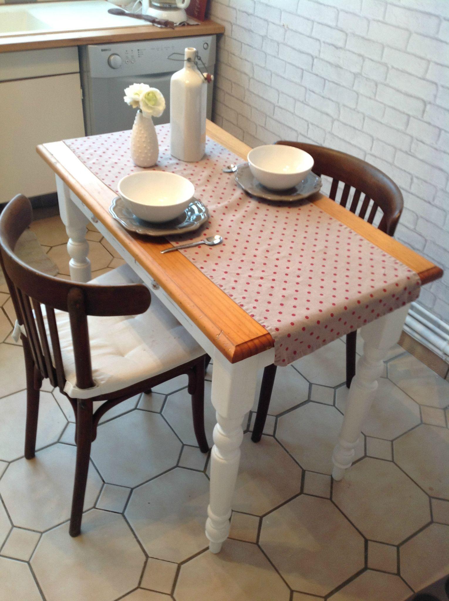 repeindre les pieds dune table en bois  Deco  Pinterest  Deco Repeindre table bois et Table