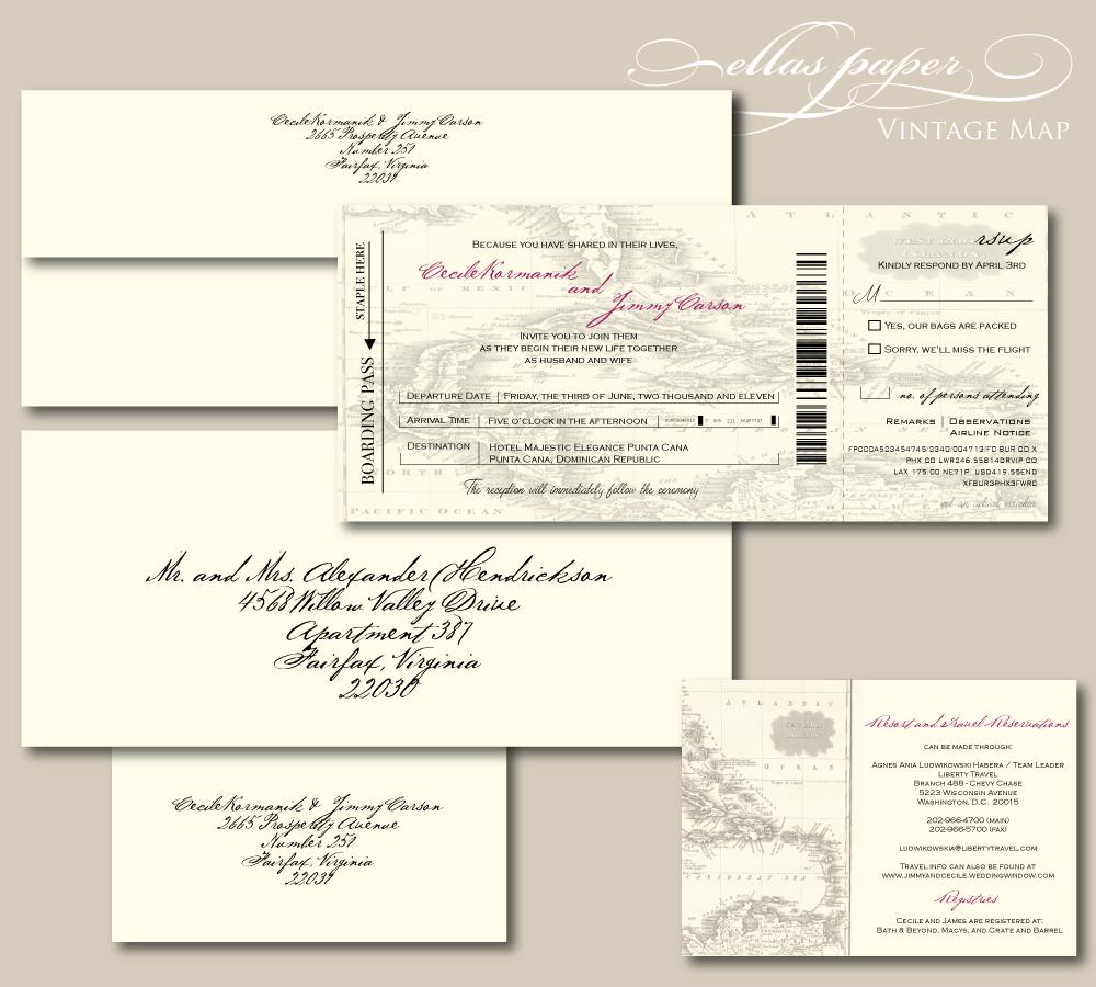 train boarding pass wedding invitation - Google Search | Invitations ...