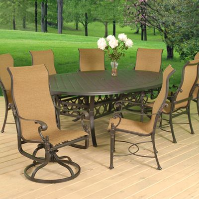 High Quality Patio Furniture | Sunrise 10 Piece Sling Spring Dining Collection   American  Sale | Outdoors | Pinterest | Spring, Sunrises And Patio