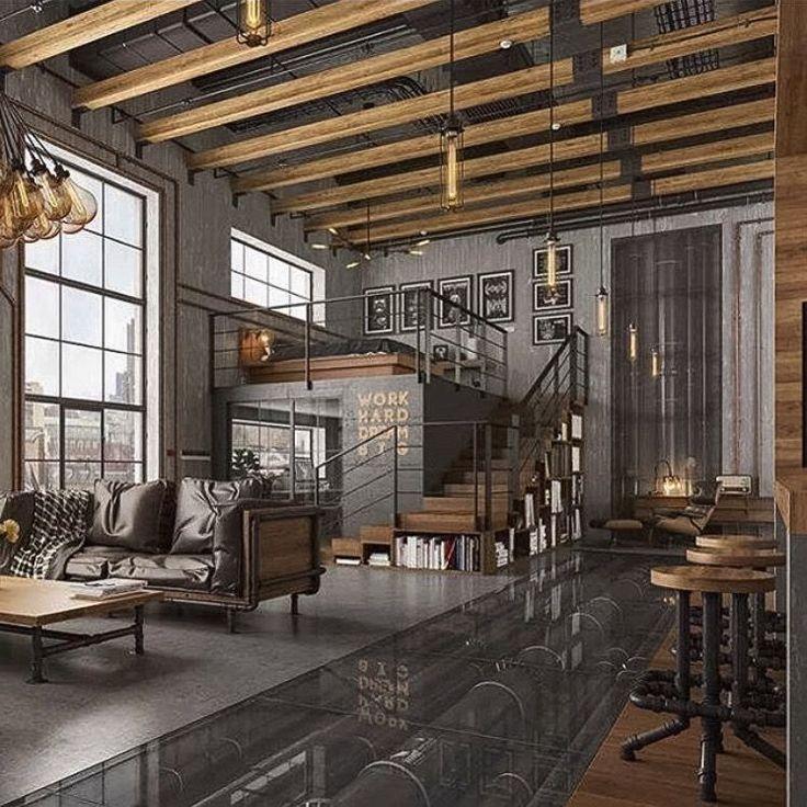 enchanting industrial style interior design living room | 5 Brilliant Ways To Use Industrial Lighting Design ...