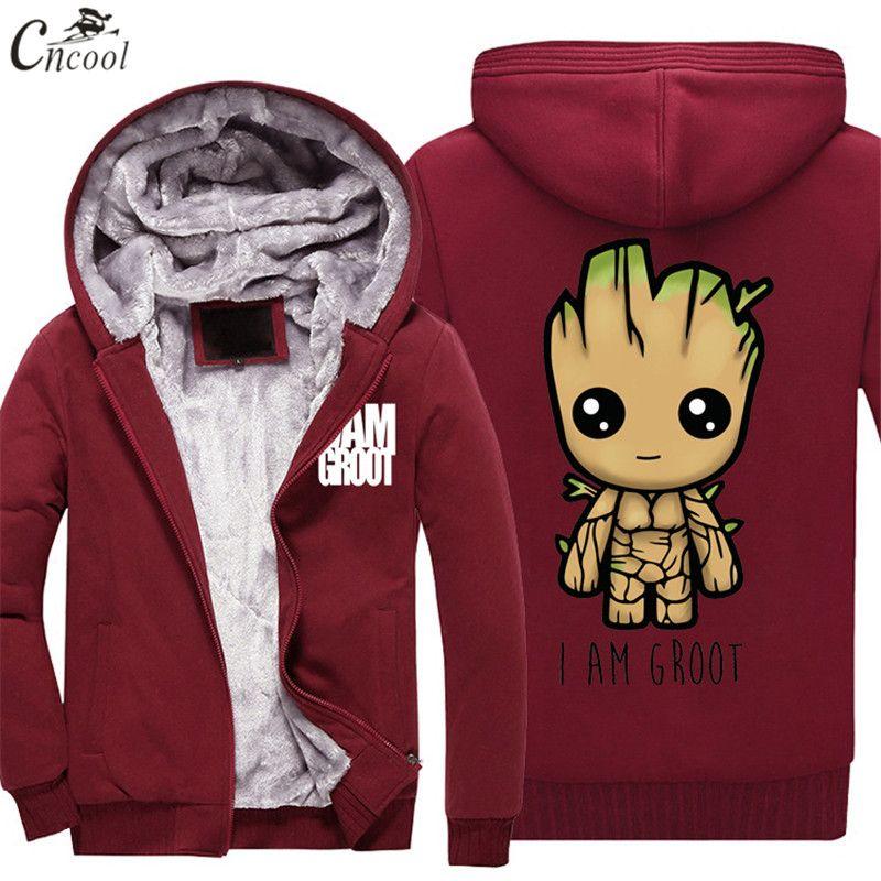 guardianes de Galaxy bolsillos para Adultos Y Niños Con Capucha Top Groot bebé con capucha