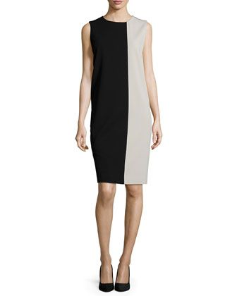 Colorblock Jersey Shift Dress by Max Mara at Bergdorf Goodman.